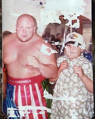 Foto 📸 para enmarcar: Andy Ruiz Jr y ButterBean, hace ya unos cuantos años (Vía @Andy_destroyer1 )