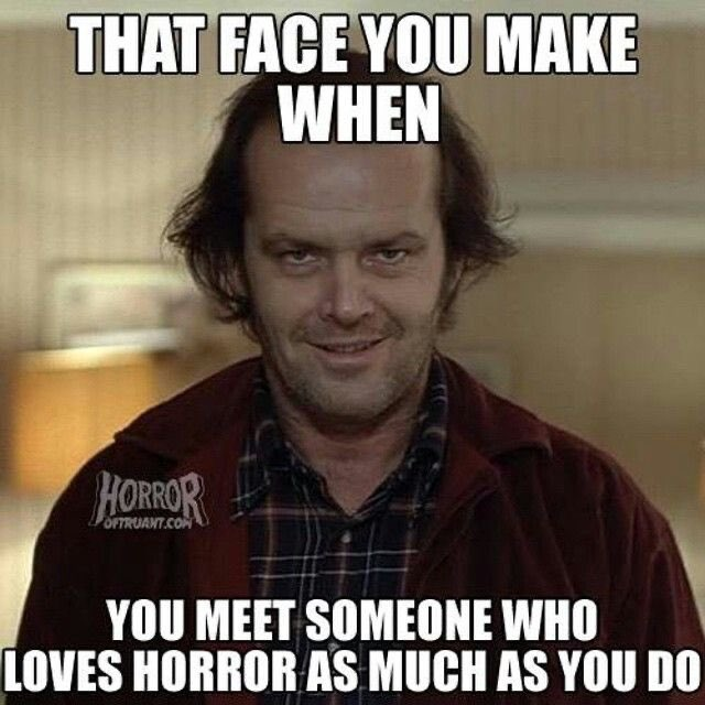 #HorrorFam yea, been making this face all day, lots of weird looks at work actually..... pic.twitter.com/UDTD0AiVGm