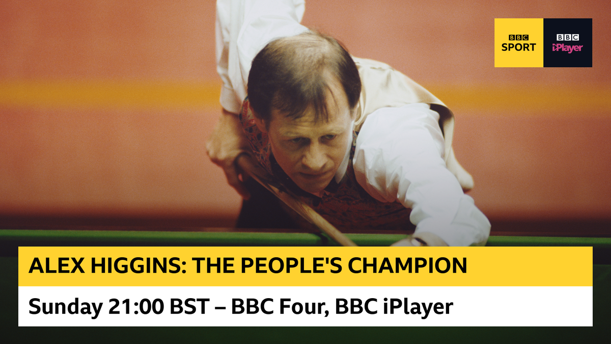Alex Higgins was one of snookers biggest stars... but he also fought many personal battles. This is his story, charting the rise and fall of one of the games true geniuses. Watch on @BBCFour or @BBCiPlayer at 21:00 BST.
