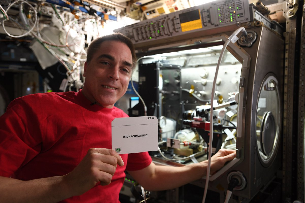 More than four years ago I traveled to Indianapolis to speak to group about how @Space_Station research could improve their consumer products here on Earth. This week, I got to conduct an experiment that happened because of that trip! bit.ly/2P6yHnM