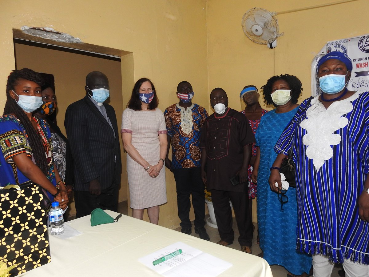 LCC Ecumenical Women Organization Nose Masks Project Launch today at the Secretariat of LCC. 4,380 out of 15,000 nose mask of phase 1 of the project were available during the ceremony. Production is expected to multiply as the EWO seeks to carryout distribution nationwide.