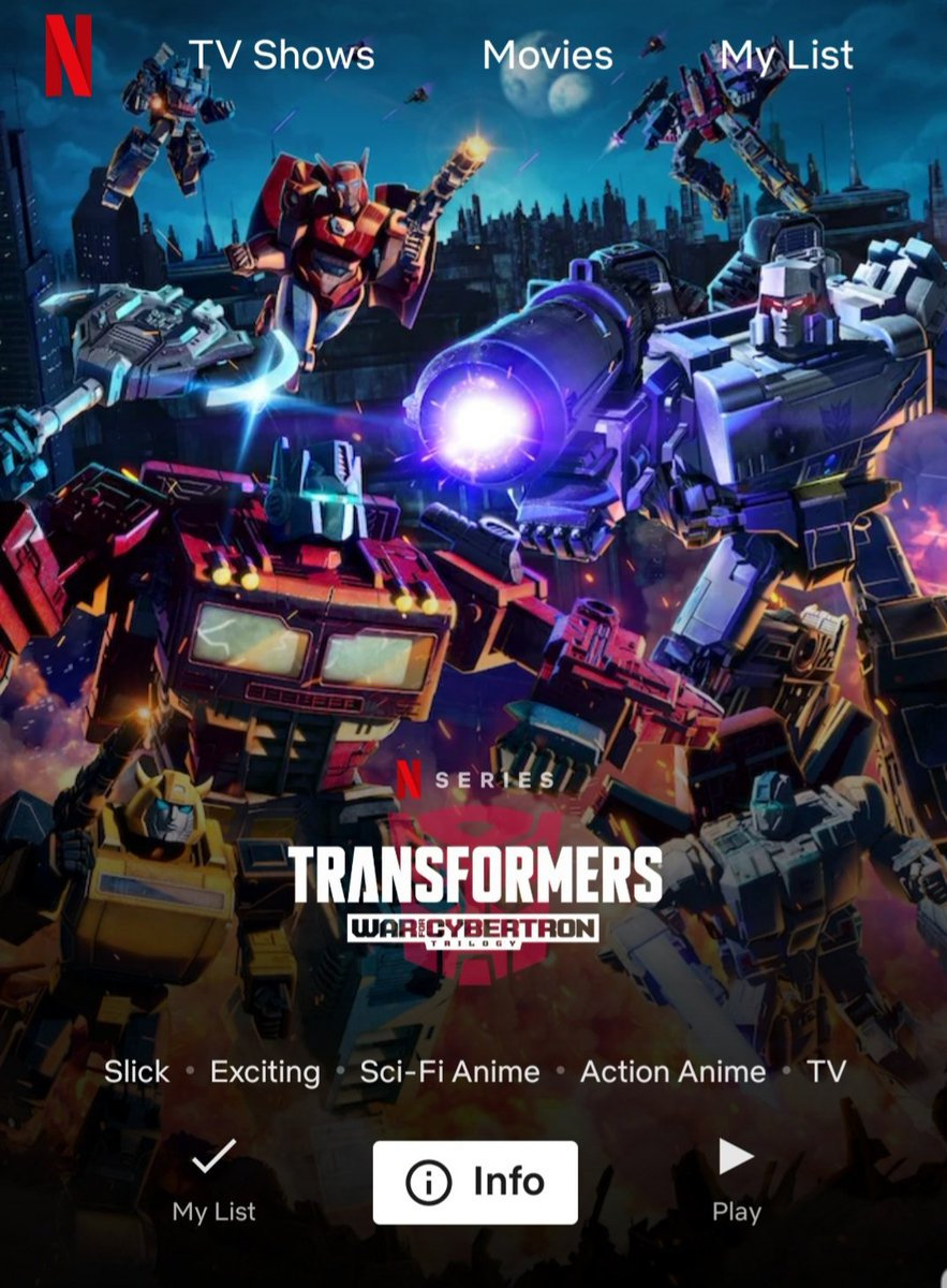 Binge watching! I will never out grow Transformers. Who's in? I know I'm not the only one. pic.twitter.com/EumWHYPuYQ