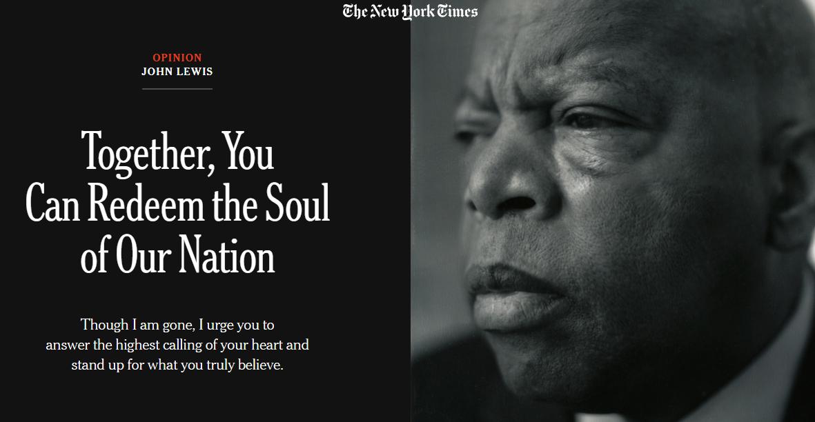 Thank you John Lewis. @nytimes