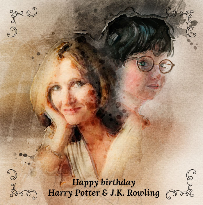 July 31st. Happy birthday Harry Potter and J.K. Rowling!