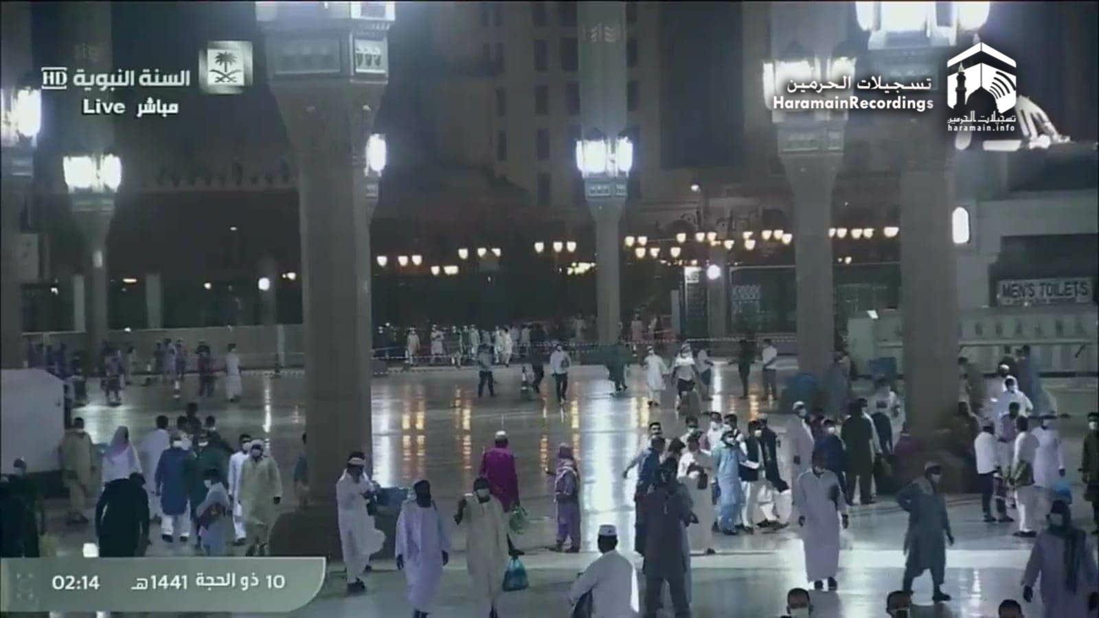 Suasana jelang Salat Iduladha di Mekah