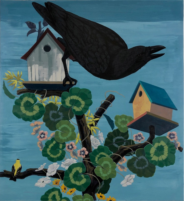 """Beautiful new works by the living master, #KerryJamesMarshall, referencing John James Audubon's  """"The Birds of America"""" in a special presentation with @davidzwirner https://t.co/3KClejoxKL"""