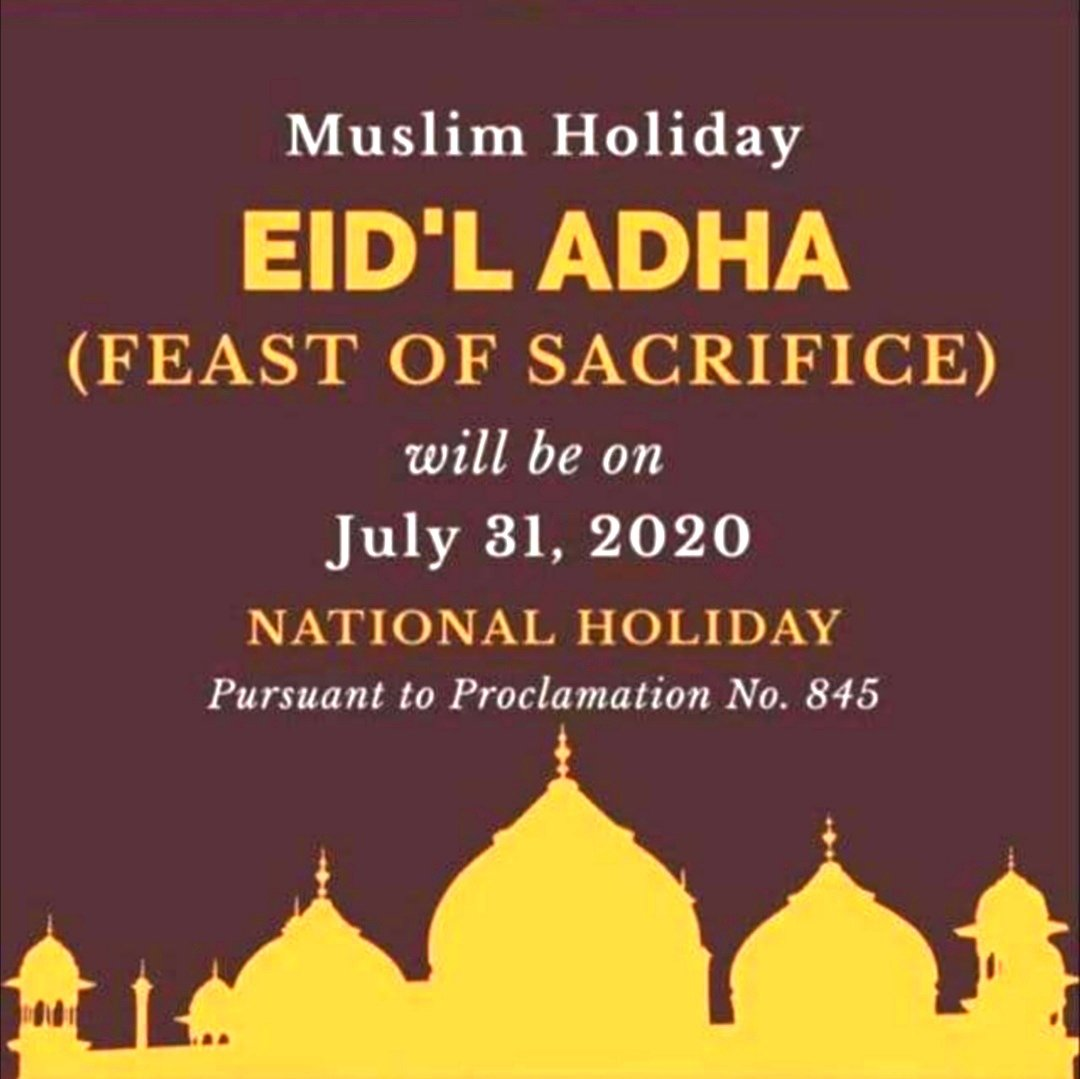 Blessed Feast of Sacrifice (Eid'l Adha) to our Muslim brothers and sister. #EidlAdha #FeastOfSacrifice #MuslimHoliday  #COVID19PANDEMIC #NewNormal #JourneyOfLife #JourneyOfFaith #EveryDayIsAJourney #LifeIsTravel #Travel  #Backpacking #Wanderlust  #AuthenticTravel #Gratefulpic.twitter.com/vNObLyYA1a