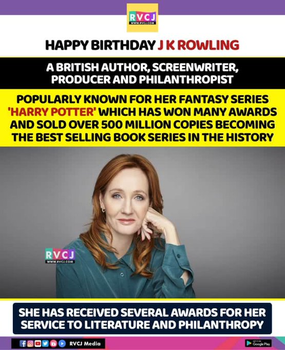 Happy Birthday J.K Rowling!