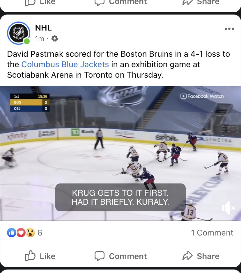 The headline.. @NHL what was the point? Absolutely no recognition on how well the team that scored 4 goals played.. let's focus on the ONE goal the losing team made #thedisrespect @BlueJacketsNHLpic.twitter.com/5QNK1f10tQ