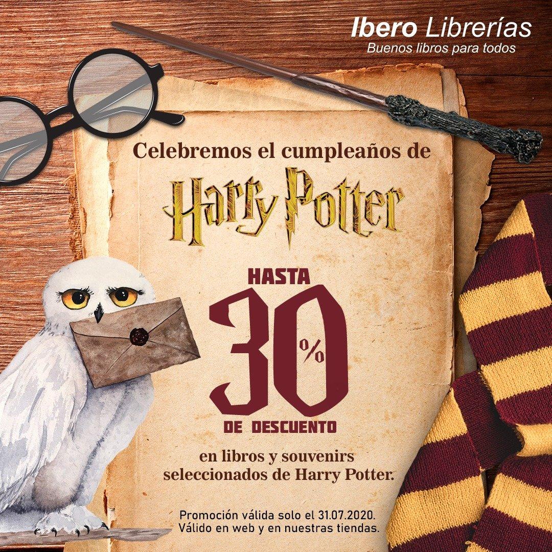 *Válido para compras en nuestra web y en nuestra red de librerías. No acumulable con otras promociones. Descuento válido solo el día 31/07/2020. Descuento en libros y artículos de Harry Potter de fondo Ibero de 30%, y 20% en aquellos de la Editorial Penguin Random House. https://t.co/H1t9YkTLt9