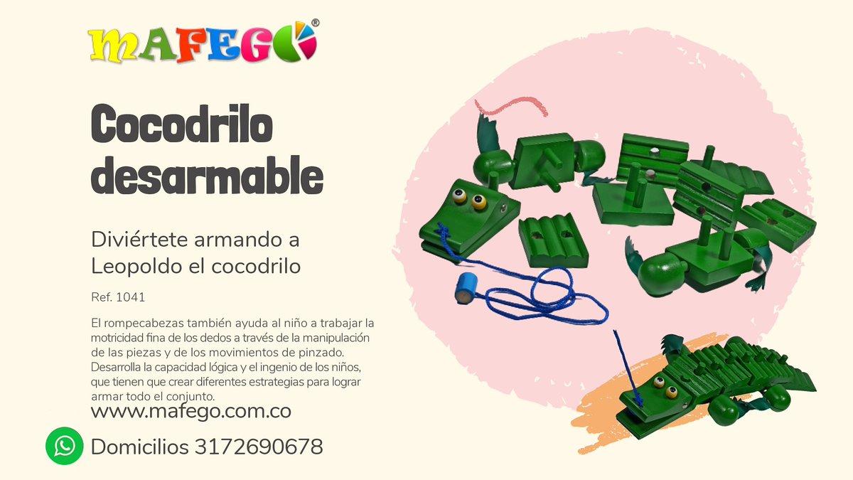Cocodrilo desarmable 100% Madera Material Didáctico. Medidas(cm) : 40 x 15 x 6 9 piezas Ensarte y rompecabezas  Motricidad fina. 🛍️ https://t.co/8tX3yA6Yz7  📲 WhatsApp 3172690678 📍#Pasto #Colombia #domicilios #enviosnacionales https://t.co/n94Y9K8Qgz