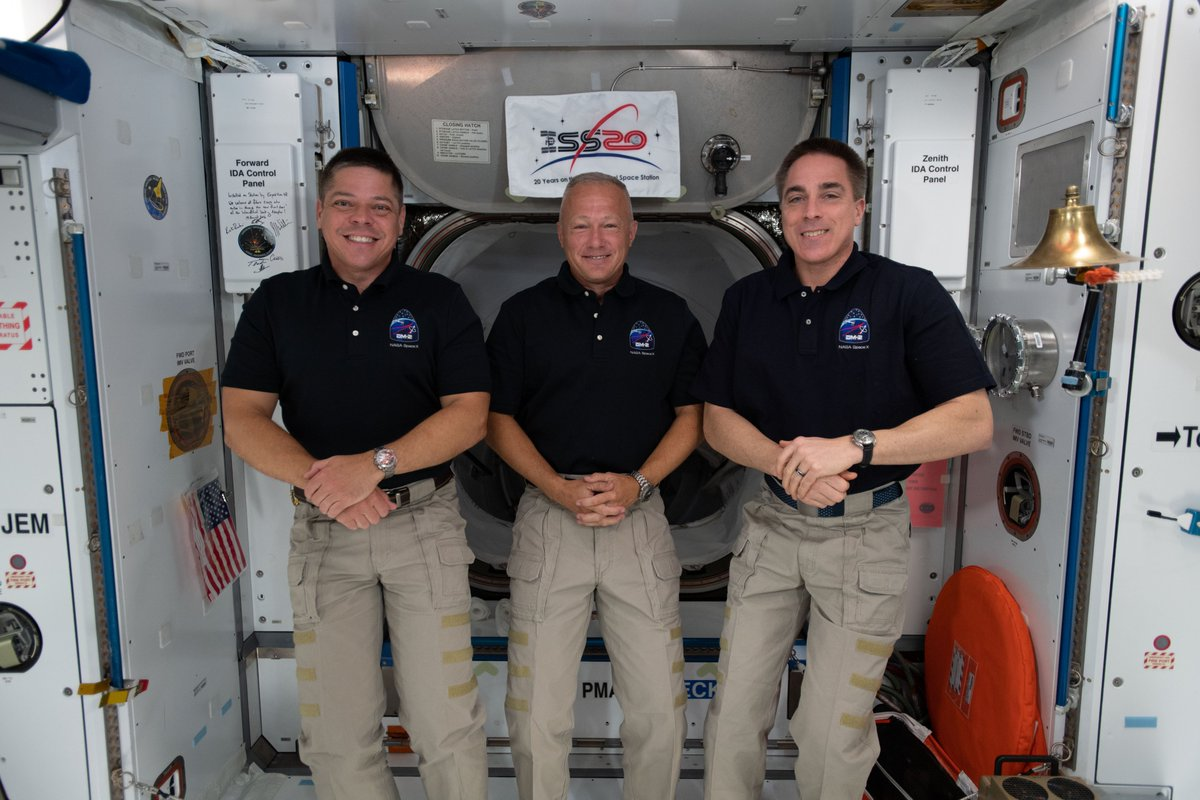 Today at 10:45 a.m. ET, @AstroBehnken & @Astro_Doug will discuss their upcoming @SpaceX #CrewDragon return flight back to Earth & will be joined by fellow @NASA astronaut & current @space_station commander @Astro_SEAL for a live news conference. 🛰️ 📺 nasa.gov/live