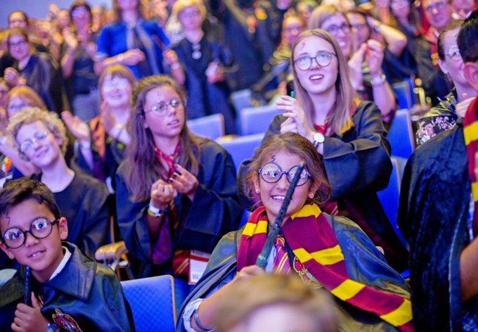 Happy birthday, (Photo: Harry Potter World Record Attempt at