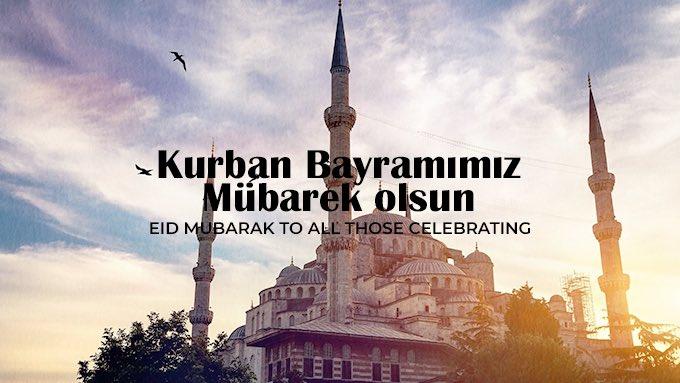 Hep birlikte sağlık, mutluluk ve huzur dolu nice bayramlara. Kurban bayramımız mübarek olsun. #EidMubarak to all those celebrating! https://t.co/G27M2sArYy
