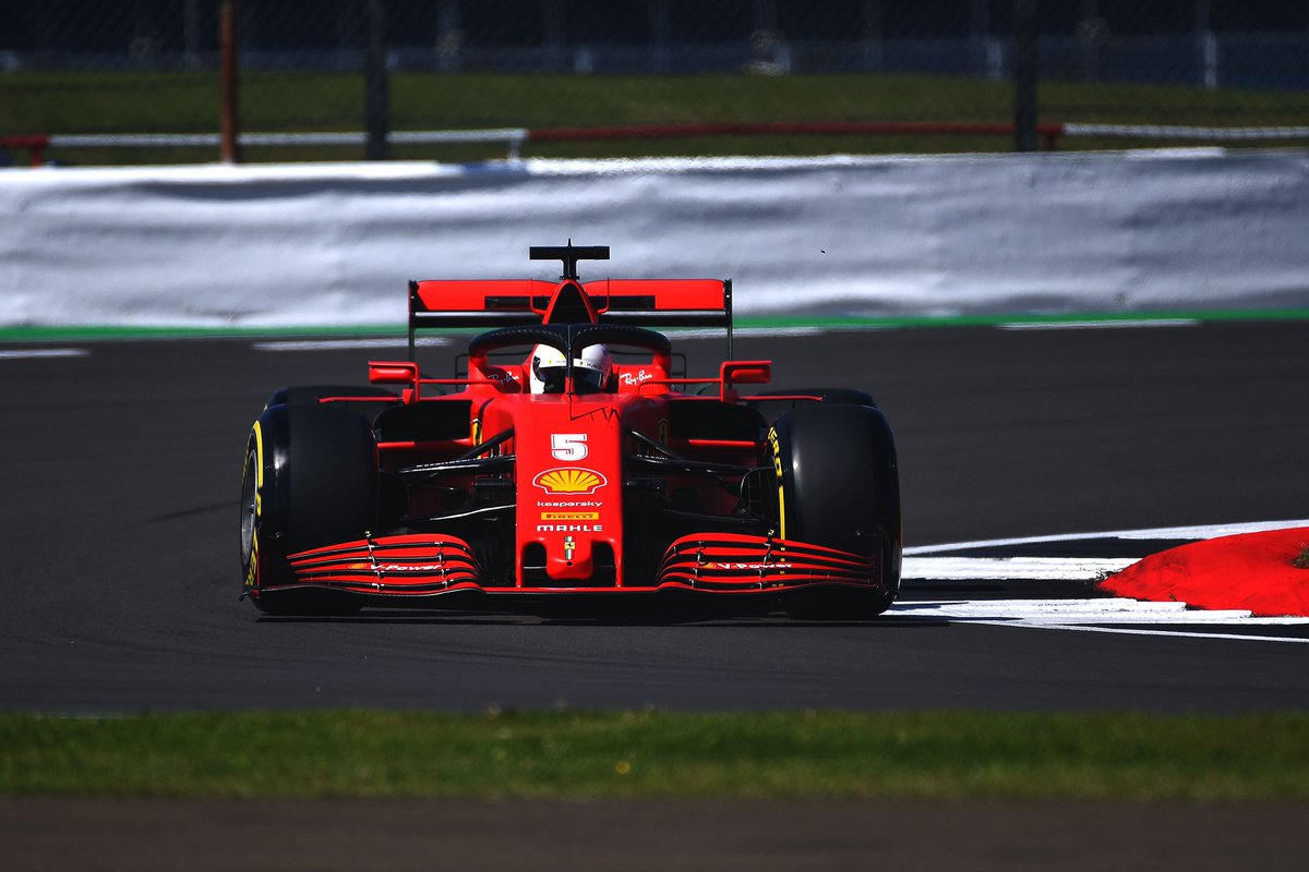 We have detected something wrong with the intercooler system on #Seb5's car so we have to strip the car down and check, to be ready for #FP2. #BritishGP🇬🇧 #FP1 https://t.co/ED4Q1UWrbZ