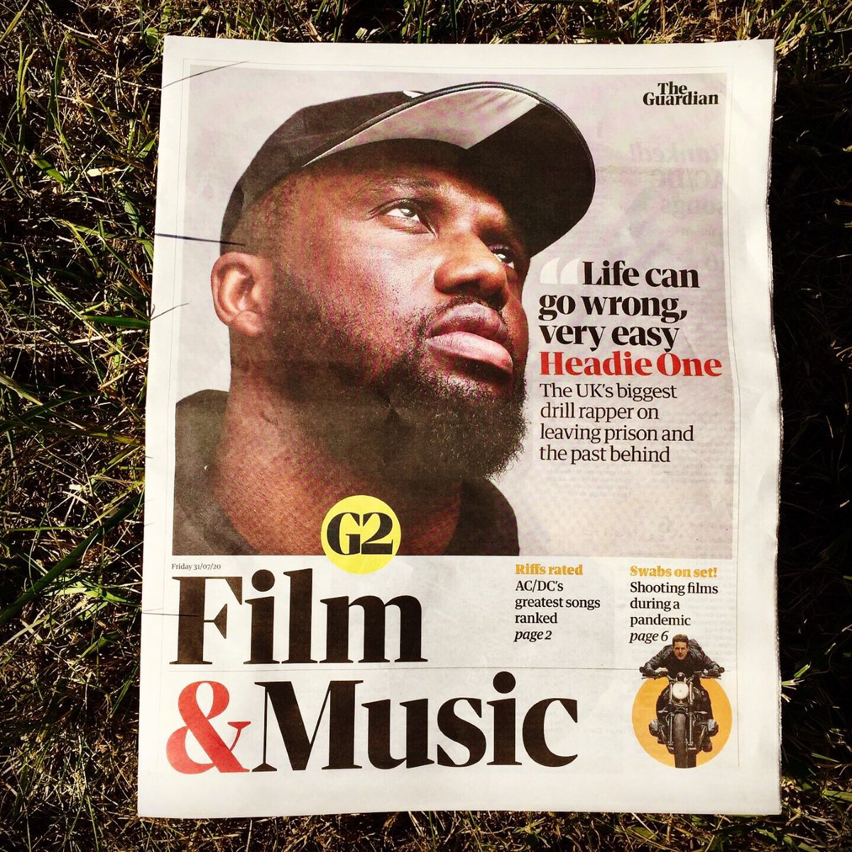 Very gassed to share my first Guardian G2 cover. 😍🙏🏿 I spoke to Headie One about Broadwater Farm, prison, music being a language and more. Have a read here: theguardian.com/music/2020/jul…