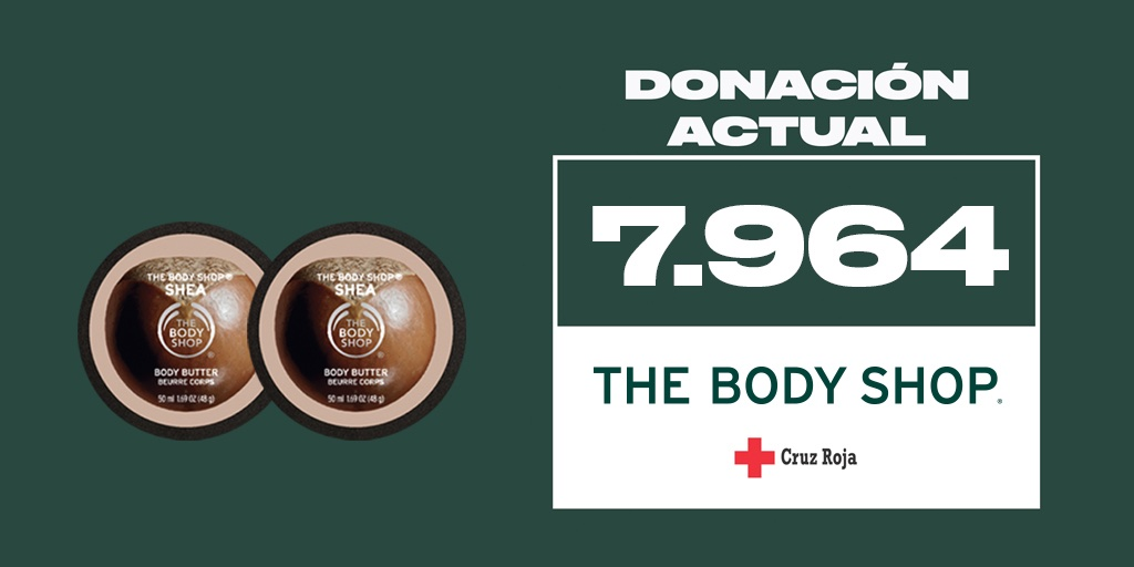 ¡7.964 #GRACIAS! Con vuestra colaboración en solo dos semanas podemos donar 7.964 Body Butters para apoyar a mujeres víctimas de violencia de género a través de @CruzRojaEsp #IsolatedNotAlone 1 BODY BUTTER💚= 1 DONACIÓN❤️ https://t.co/WlQhcxvHz8 *Hasta 07/09 en Body Butter 50ml. https://t.co/OafOvIgGFM