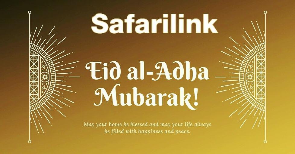 Safarilink wishes you a blessed Eid al-Adha. #Flysafe #flysafarilink #Travel https://t.co/0D3Giw8LRX