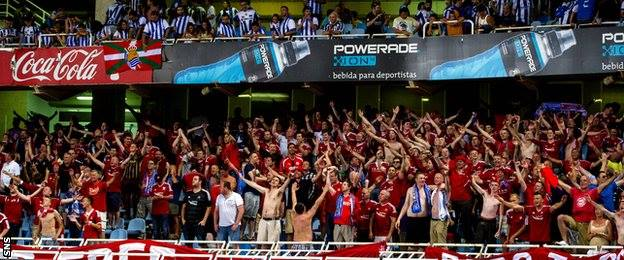 ON THIS DAY 2014: Aberdeen at Real Sociedad #COYR #STANDFREE