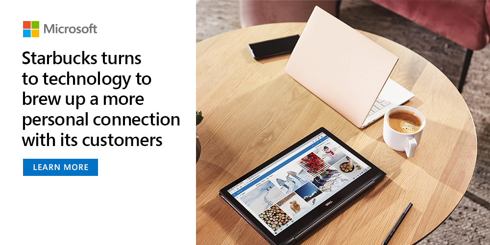 With the help of Microsoft, Starbucks is creating a more personal, seamless customer experience in its stores by implementing advanced technologies, ranging from cloud computing to blockchain. https://t.co/CeY10c2WSV https://t.co/8gr8pXULcZ