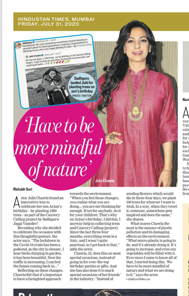 Nature saves us, we too must save it 💚 Heaven is under our feet and also over our heads 😇 Thank you @htTweets