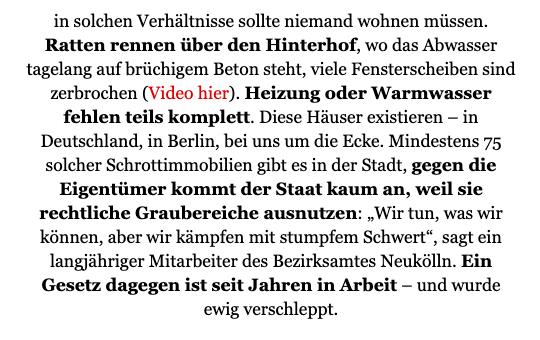 Ein Berliner CDU-Lokalpolitiker macht seit Jahren Geld mit Schrottimmobilien - und mit den dort lebenden Menschen.  Seine Partei kümmert das wenig.  Das ist ein Skandal, findet @Antje_Kapek. Ich finde: Sie hat recht.   @TspCheckpoint @JuliusBetschka @s_kahlefeld https://t.co/A0kQcLX4Xu