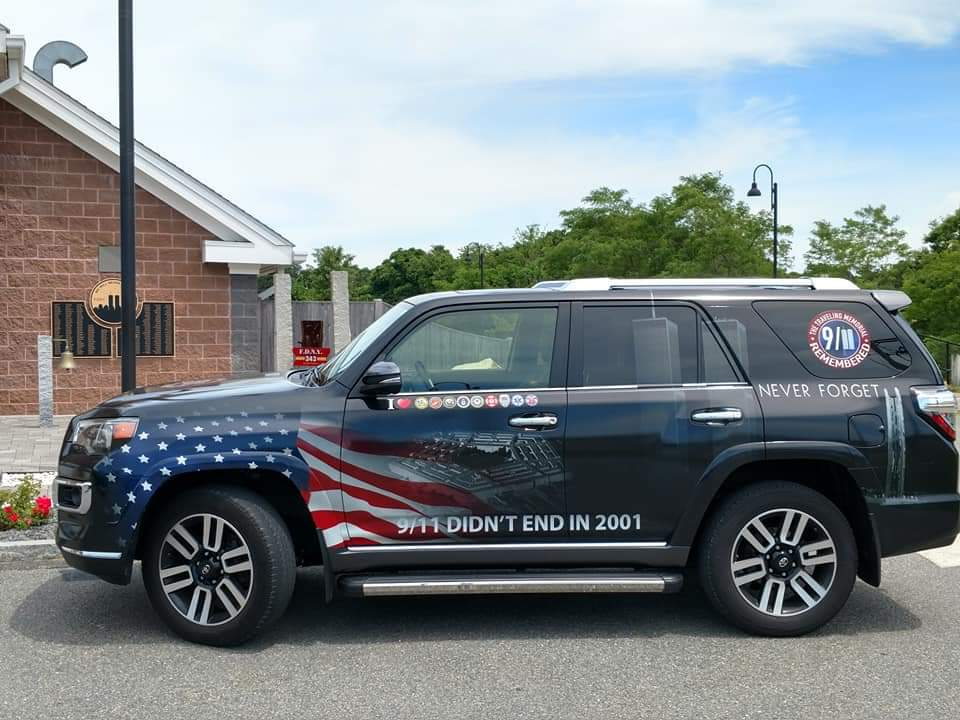 Take a look at our vehicle that will be touring the United States, ahead of our 20th Anniversary tour of the 911 Traveling Memorial in 2021..go to 911travelingmemorial.org to read more..🚔🚒🚑🏨🏥 #NeverForget #911DidNotEndIn2001 DM for info