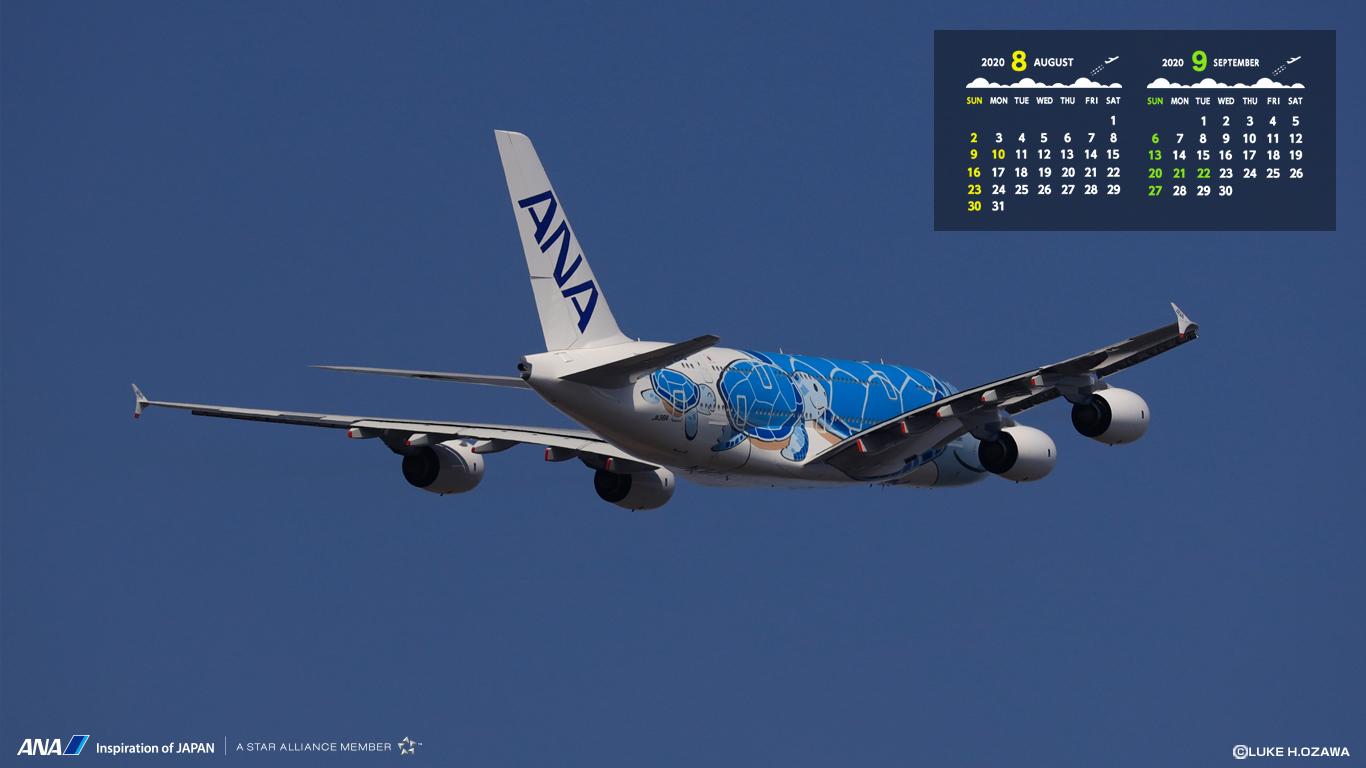Ana旅のつぶやき 公式 Ana壁紙カレンダー 8月の特選壁紙カレンダー がリリース お仕事の時などの気分転換にどうぞ ダウンロードはコチラから T Co Tjqyokyrwy