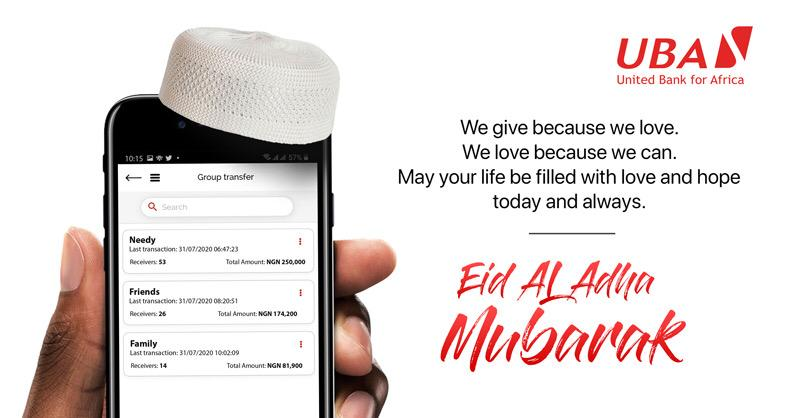 Eid Mubarak from all of us at UBA! We wish you a love-filled, happy, peaceful, and safe celebration. #EidAlAdha #UBACares https://t.co/YuqU3QkcFc