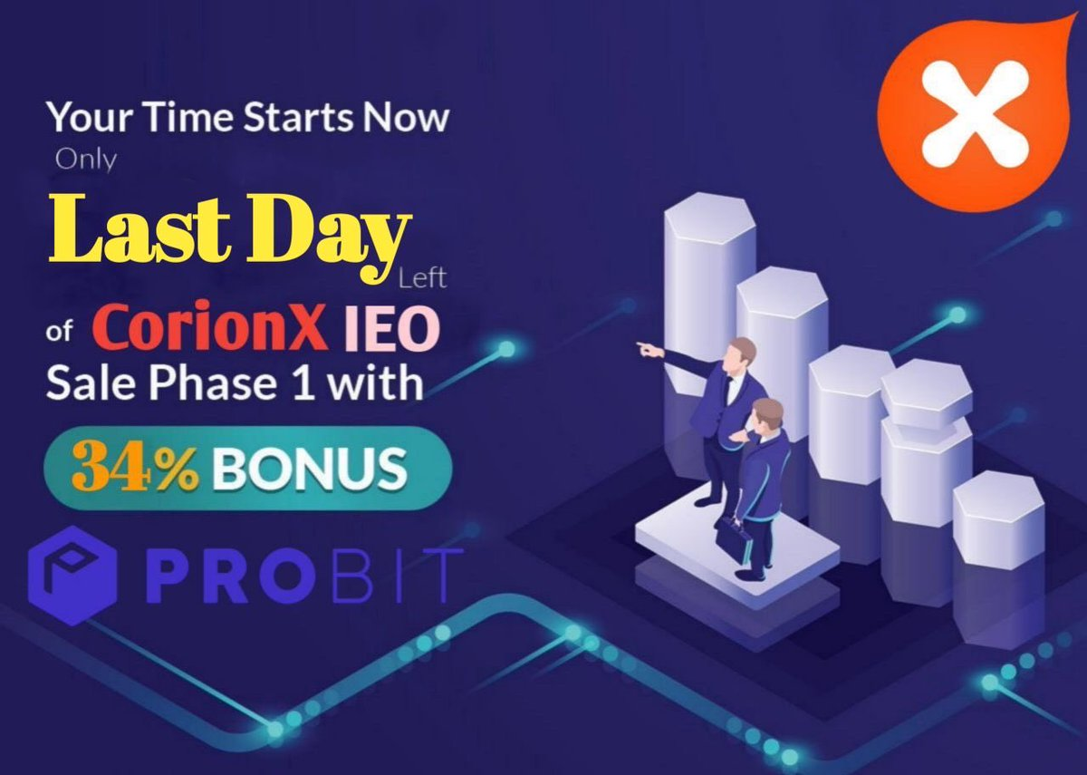 CorionX helps to spread the #crypto,  & #DeFi solutions. $CORX is important part of our educational & promotional programs, which help to achieve the mainstream adoption. First round of our #IEO on @ProBit_Exchange will finish today! Don't miss it! #MoneyInTheRightDirection https://t.co/3kznMHKkfF