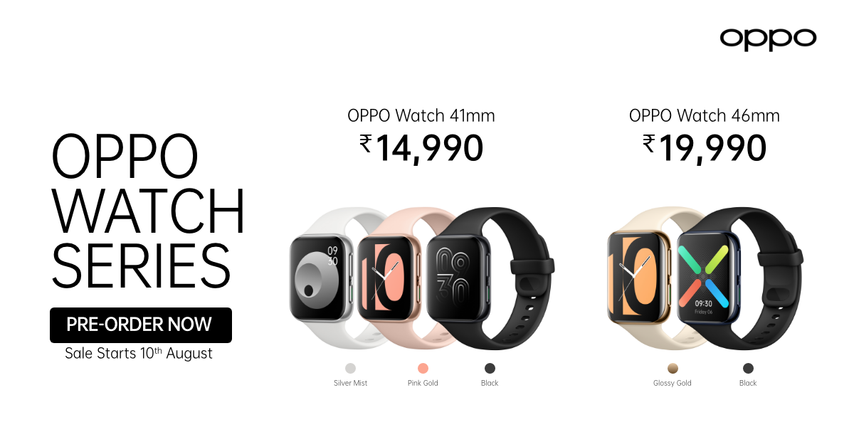 The all-new #OPPOWatch packs an AMOLED Dual-Curved Display, VOOC Flash Charging, Fitness tracking powered by WearOS by Google™. Pre-orders now open!  First sale starts on 10th August   Style your wrist now! 😎 #DesignedToImpress Know more: https://t.co/PrDIP3Bwwz https://t.co/niCZPwvwkf