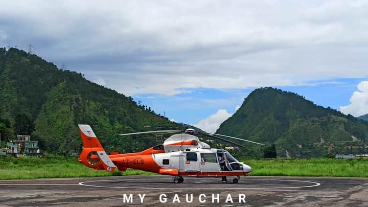 उड़ान RCS के तहत गौचर से @PawanHansLtd की सेवा शुरू। क्षेत्रवासियों ने किया क्रू का स्वागत https://t.co/RcPgfW5LwE