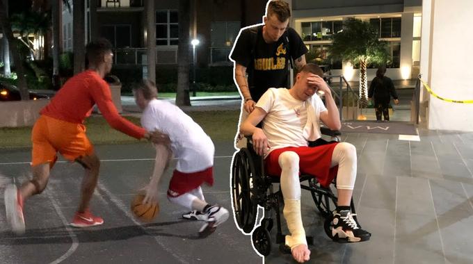 【影片】突發!傳奇街球手「教授」疑似跟腱斷裂,個人聲明:生涯要結束了!-黑特籃球-NBA新聞影音圖片分享社區