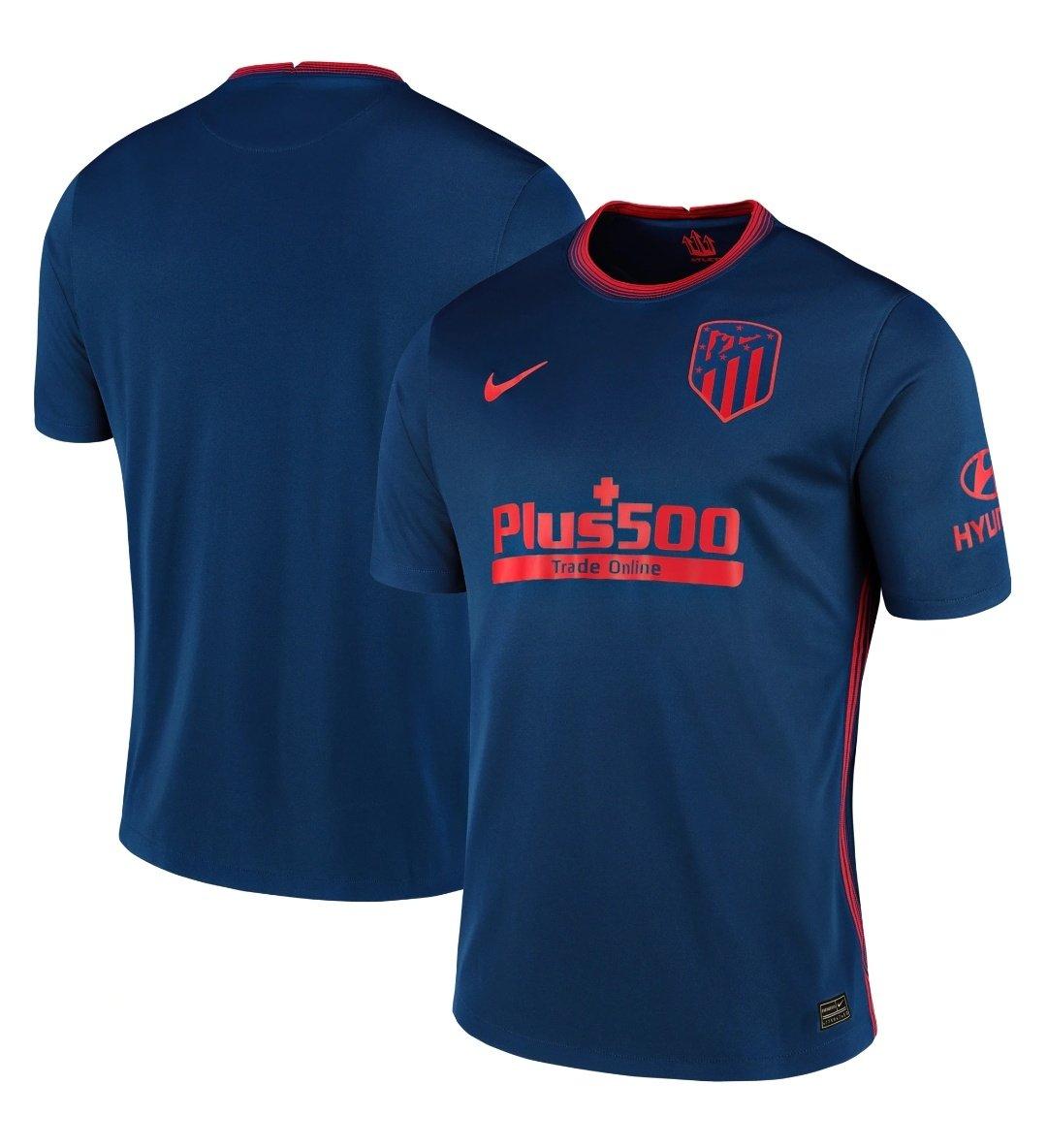 La segunda camiseta del Atlético de Madrid.