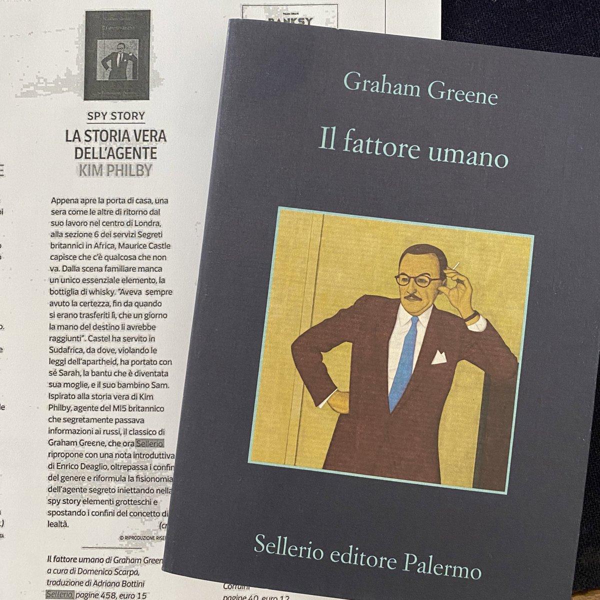 Su @7Corriere #IlFattoreUmano di #GrahamGreene, la storia vera dell'agente Philby. https://t.co/o7q6sTUTCs