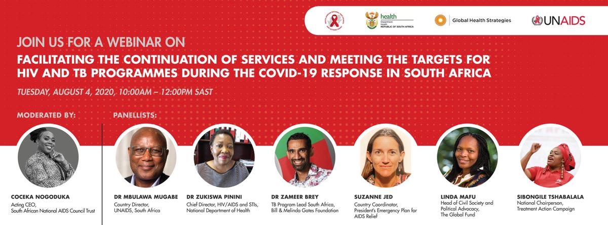 #Webinar #COVID19 #HIV #TB