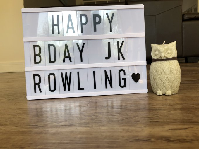 Celebrating J.K Rowling and Harry Potter s birthday. Many happy returns