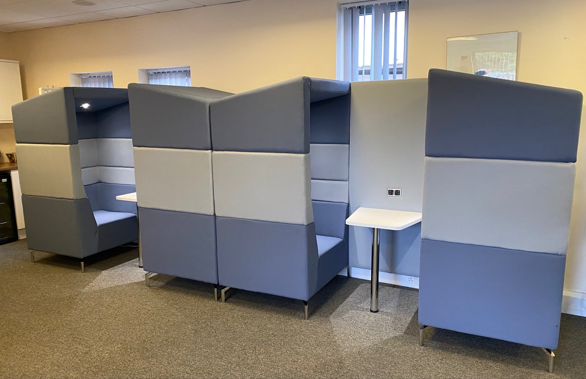 We are so excited to reveal our brand new office pods, great for one-to-one meetings and remote working.