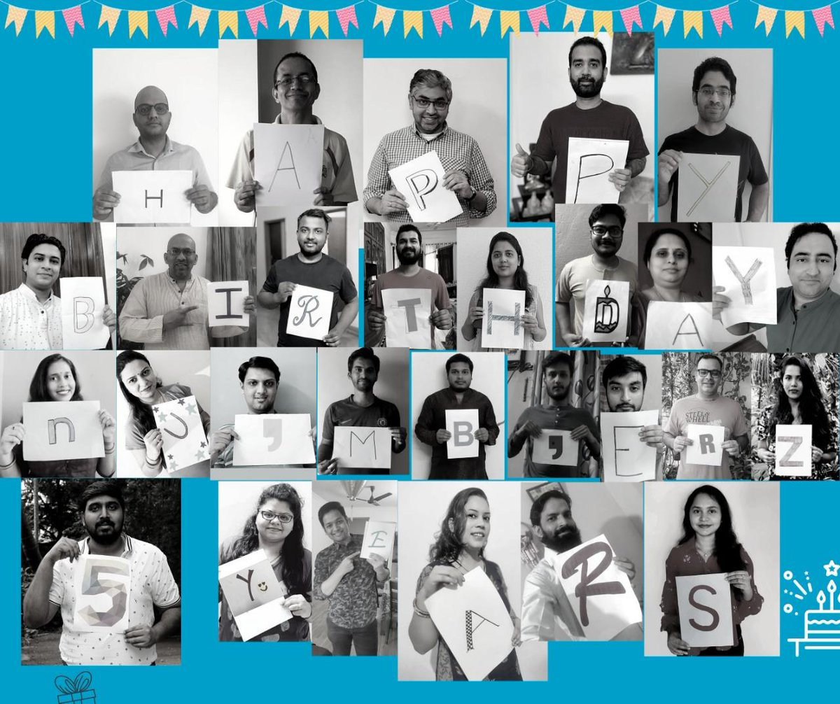 numberz turns FIVE today!  We cross a new milestone today.  If today was to be summarised with one feeling - it would be immense #gratitude.  Keep yourself belted up! Our journey has just begun! :)  #gratitudeattitude #teameffort #anniversary #startup #workandplay pic.twitter.com/cKvd8nmjlW