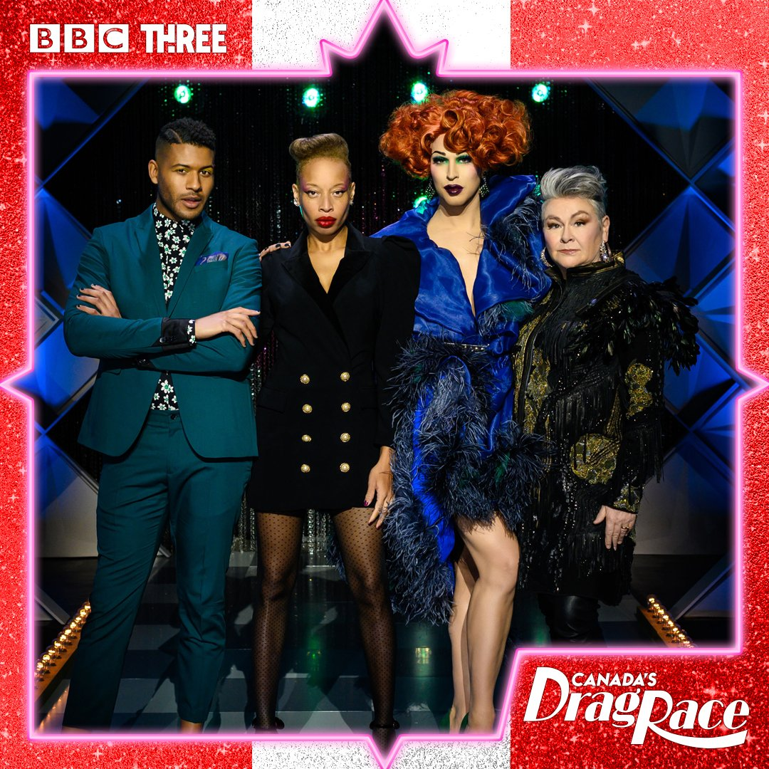 This week @marywalsh11 joins @StaceyMcKenzie1, @Bhytes1 and @JeffreyBChapman as an extra special guest host. #CanadasDragRace, streaming on @BBCiplayer now.