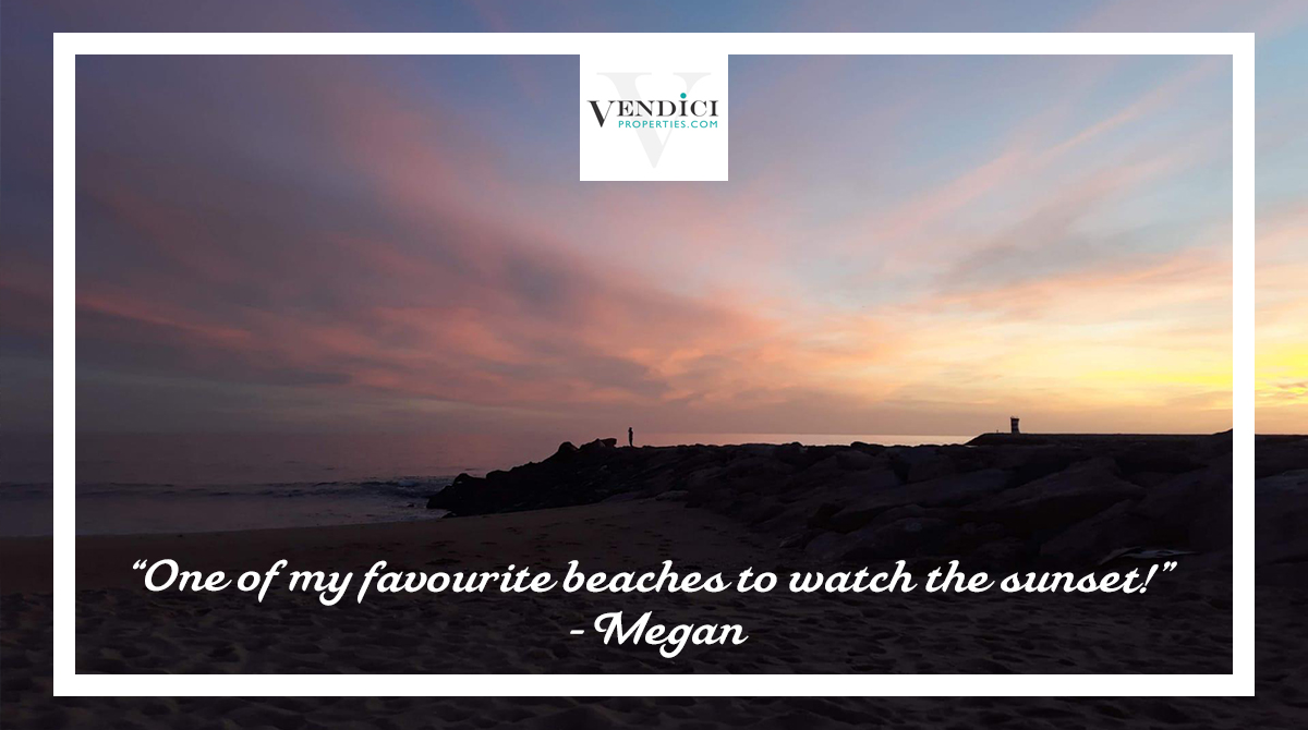Who doesn't love a good sunset?! A beautiful sight at Quarteira beach, of course it's one of Megan's favourites! Where's your favourite place for watching the sun set in the Central Algarve? Let us know! #Vendici #cantskiphope #cleanandsafe #Algarve #ValedoLobo #QuintadoLagopic.twitter.com/ZYSLBew7We