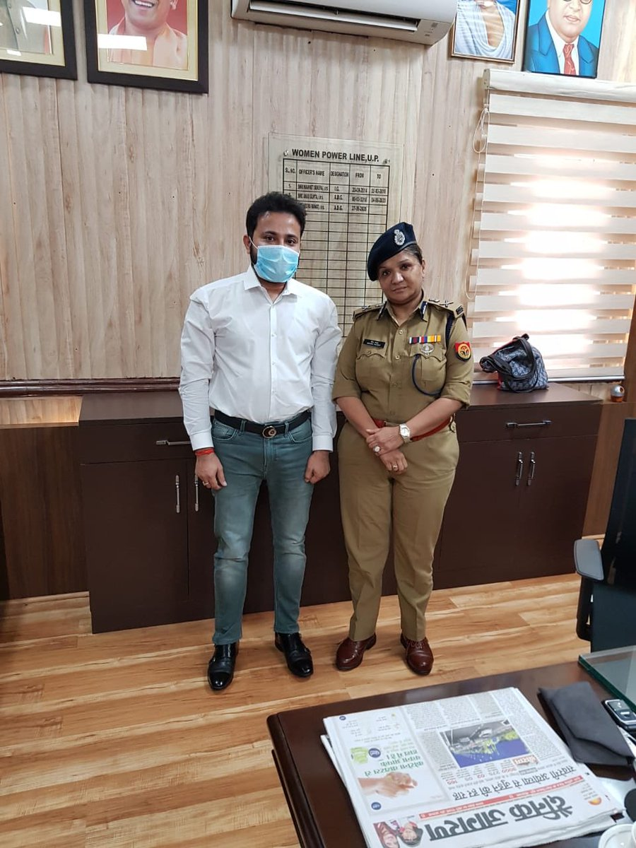 It was such a great honour to meet this driven and committed police officer, ADG, Women Help Line and IPS. #honour #feelinghonored #honoured #police #indianpolice #ips #indianpoliceservice #policeofficer #indianpoliceforce #indianpoliceofficers #adgpic.twitter.com/qW8KNnINB9