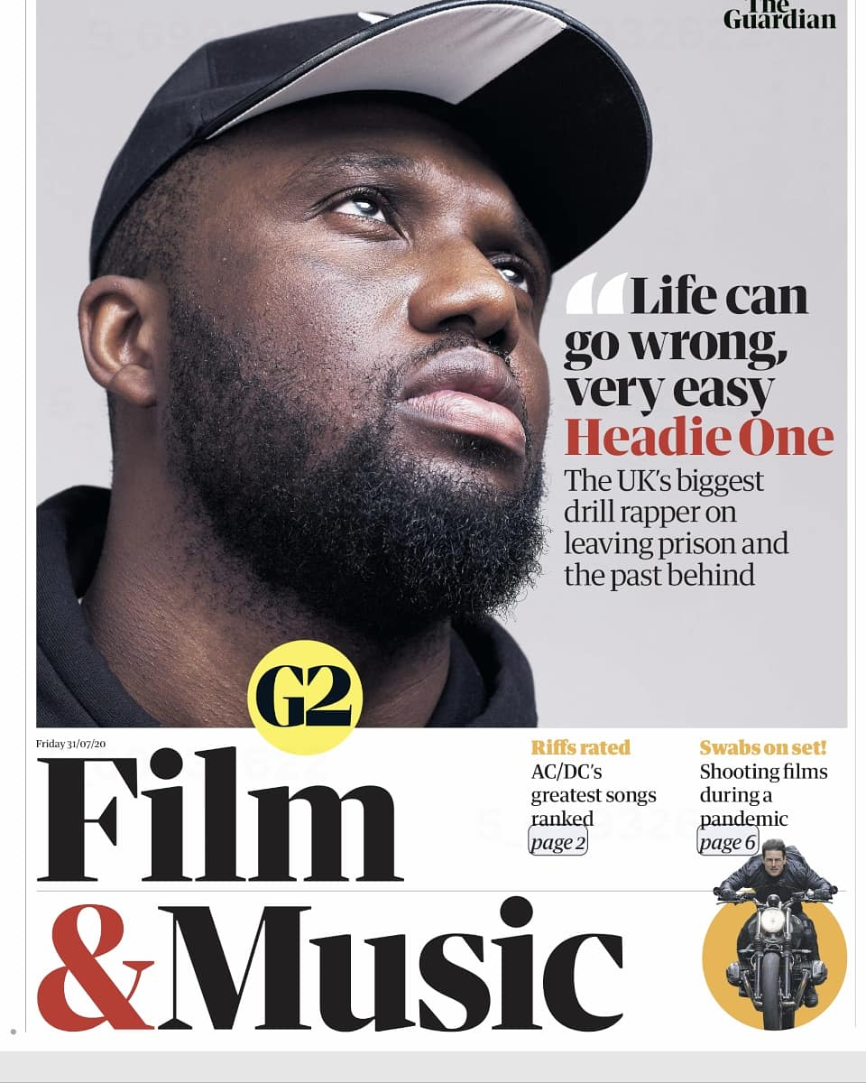 Very pleased to share my first cover feature as a music publicist! Headie One is on the cover of this weeks Guardian G2 🤟🏿🤟🏿🤟🏿 Interview done by the brilliant @AniefiokEkp and photos by the wonderful @sukidhanda