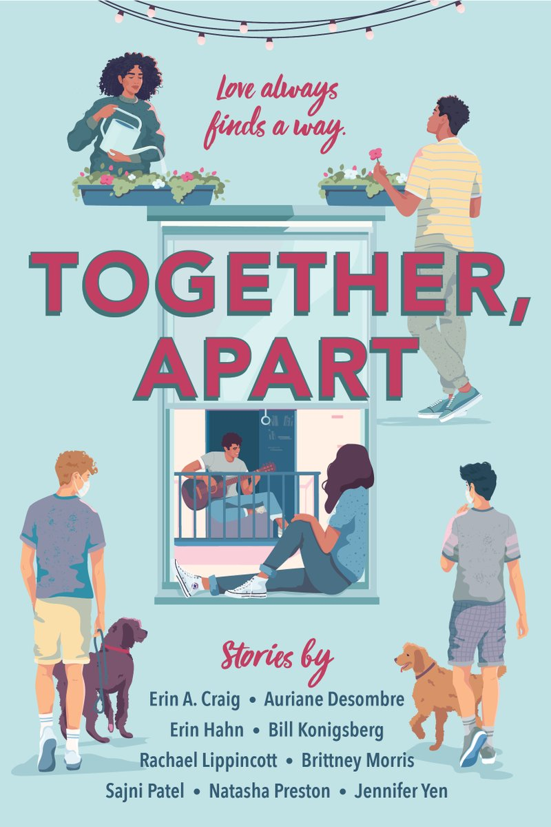 SURPRISE! Im in TOGETHER, APART—a YA collection of stories about finding love during life in lockdown. My contribution, THE GREEN THUMB WAR has:  Enemies to lovers  Dueling herb gardens  Black teens in therapy Pre-order from @getunderlined now at bit.ly/32Vm0UV!