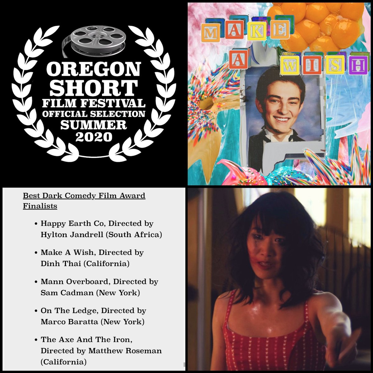 We have some exciting news to share for you today and we'll start it off with our Best Dark Comedy nomination from the Oregon Short Film Festival!!   #oregonshortfilmfestival #filmfestival #nomination #darkcomedy #horrorcomedy #shortfilm #oregonpic.twitter.com/ybyMMrVEf4