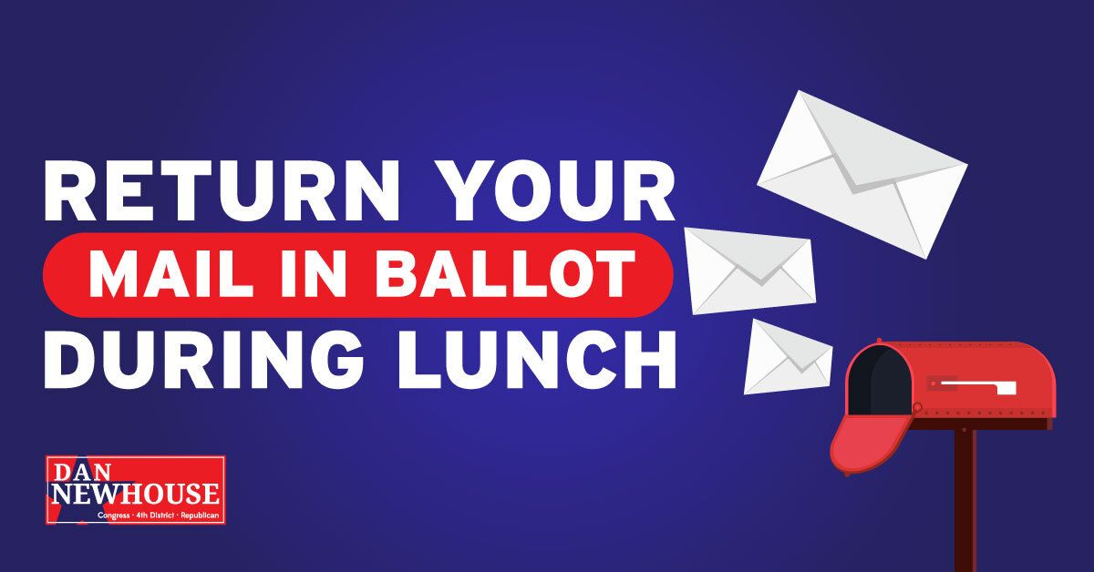 Haven't turned in your mail-in ballot? Use a few minutes out of your lunch break to get it done before the weekend! https://t.co/Ux63UxjQ4r