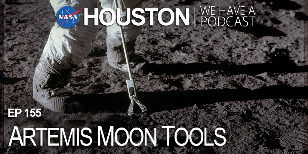 """We dig deep with Moon tools experts (pun intended), learning how we are preparing to explore our neighboring satellite during #Artemis missions on this week's episode of """"Houston, We Have a Podcast."""" ⚒️🔧 go.nasa.gov/2PeZo9T"""