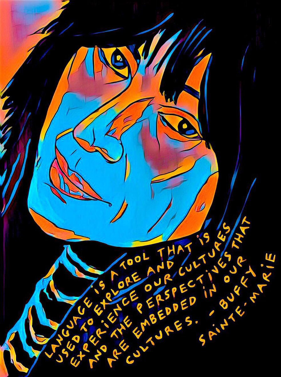Language is a tool use to explore and experience our cultures and the perspectives that are embedded in our cultures.  #BuffySainteMarie https://t.co/HTVcO03ts7