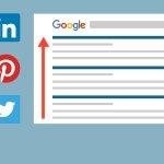 Image for the Tweet beginning: SEO-resultaten verbeteren met Social Media