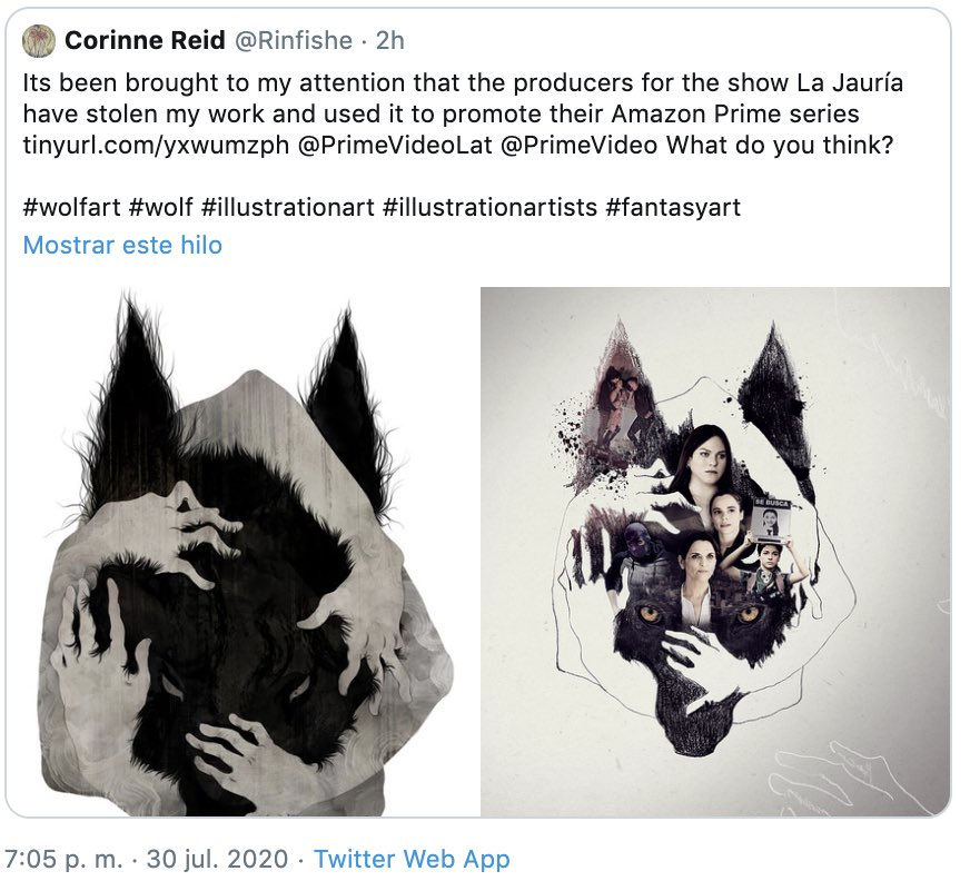 I hope you plan on compensating the artist whose art you blatantly stole #LaJauría